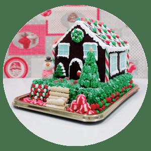 Tarta de casa de navidad en Soria