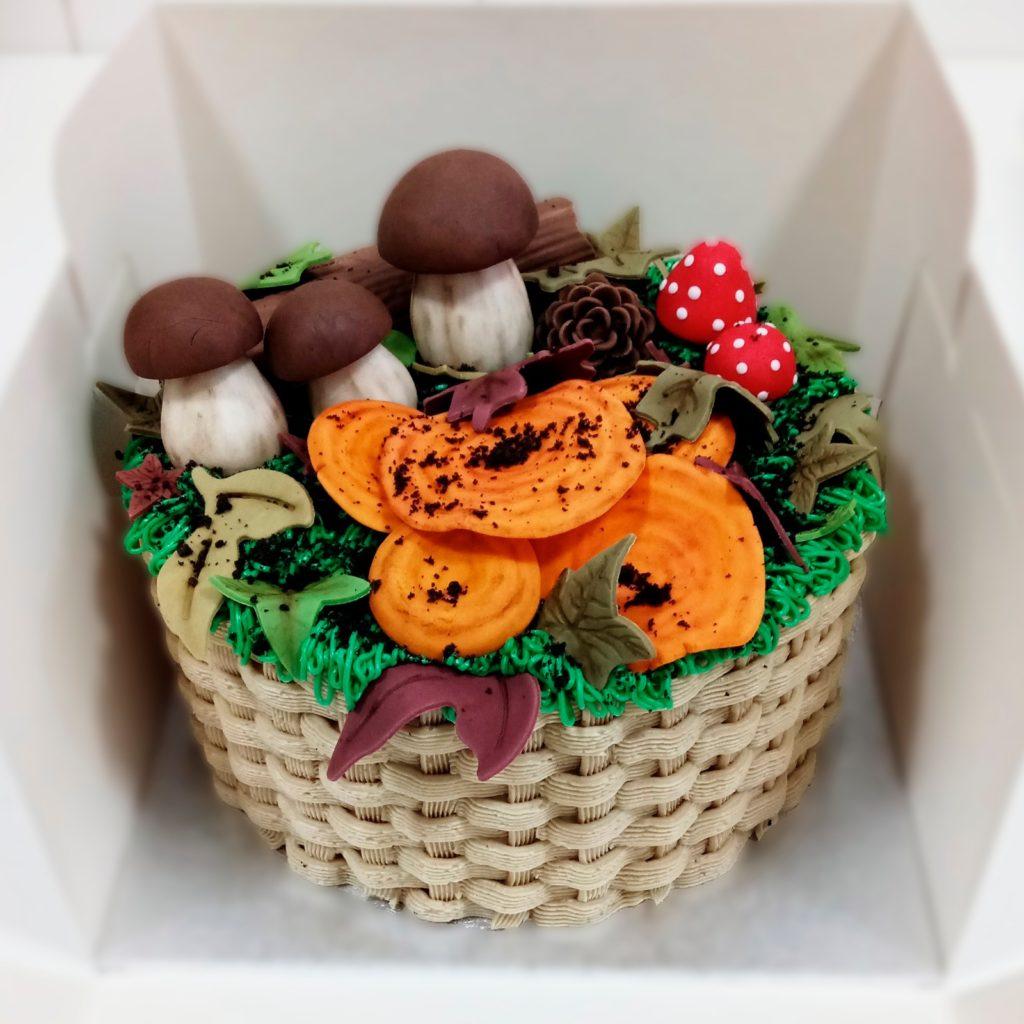tarta de cesta de setas en Soria